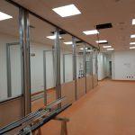 Montaggio pareti divisorie presso il nuovo Ospedale Alba Bra