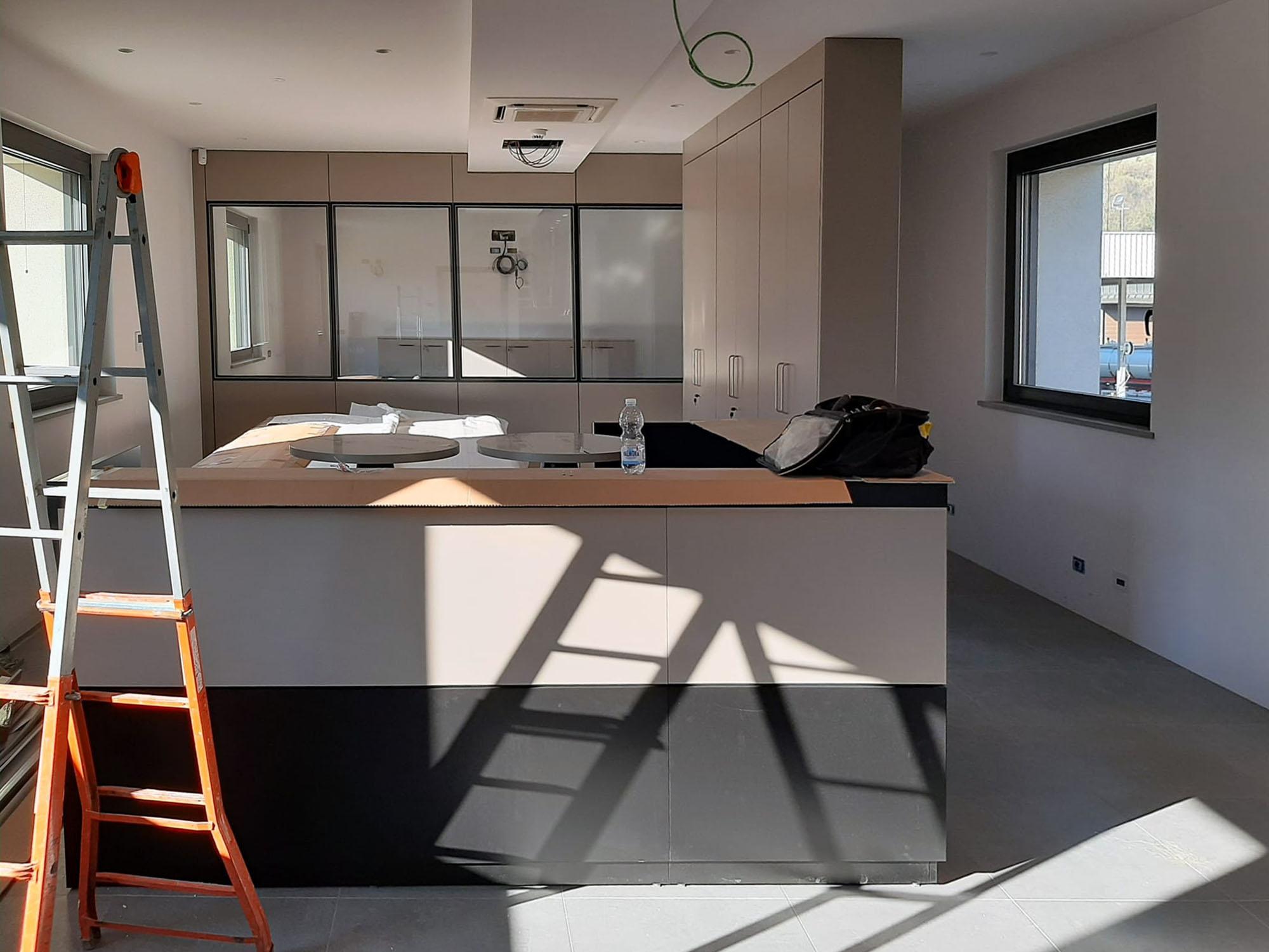 Montaggio pareti divisorie e pareti attrezzate Nizza Monferrato - 012